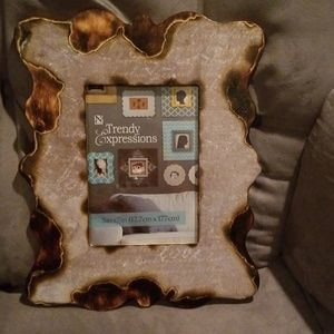 Woodburned picture frame